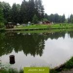 Angelteich, Angelpark in der Nähe von Much. Angeln in der Natur.